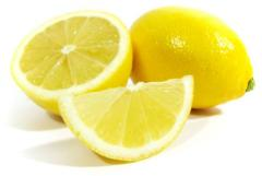 Concentrate of lemon juice: Dried concentrate of