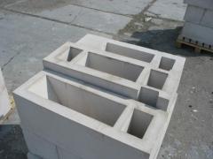 Блок бетонний перегородковий 130х190х188
