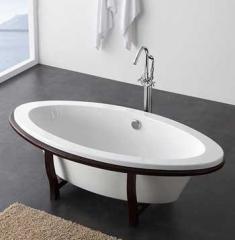 Ванна отдельностоящая овальная на деревянных