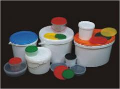 Production of products, container from