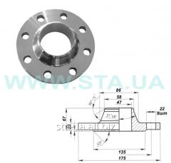 Flanges vorotnikovy Du50mm of PN63 steel GOST