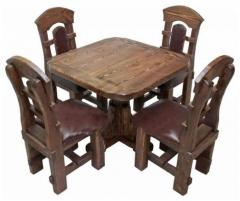 Furniture in a country style for restaurant.
