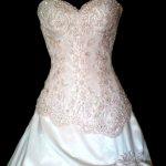 Нарядное свадебное платье ручной работы,