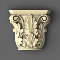 Capital decorative of a tree