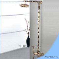 Бронзовая душевая стойка Aquaroom в ванную кран в