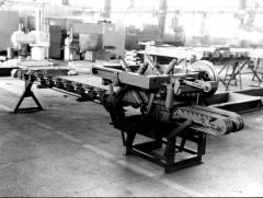 Equipment for cutting of a brick: Line of