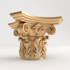 Капитель декоративная из дерева