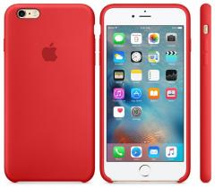 Силиконовый чехол Apple Silicone Case MMWF2FE/A для iPhone 6 Plus | 6S Plus Red | Красный Original