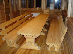 Скульптуры из дерева, садовая мебель,столы,лавочки