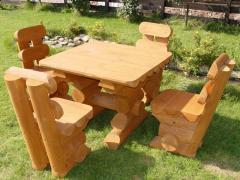 Столики скульптуры из дерева, садовая