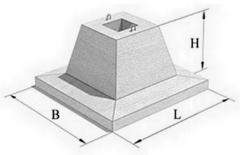 Фундаментный стакан марка Ф 21.9-3