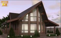Деревянный домик, новая австрийская технология