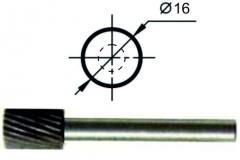 Борфреза цилиндрическая А Ø16 мм., нормальной точности