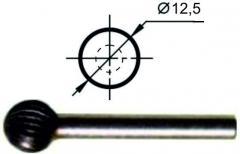 Борфреза сферическая D Ø12,5 мм., нормальной точности