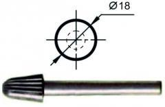 Борфреза сфероконическая L Ø18 мм., нормальной точности
