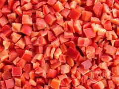 Перец красный кубик замороженный,  фасовка2,...