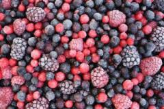 Fruit and berry mix the frozen strawberry, ...