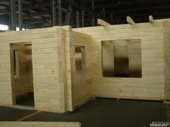 집성 목재로 만들어진 집 세트