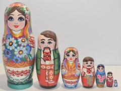 The Ukrainian painted nested doll from 7 pieces