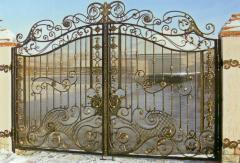 Ворота кованые.