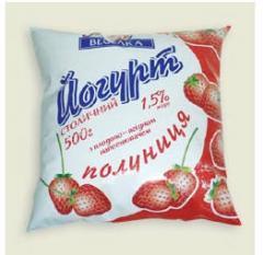 Yogurt dietary with fruit, peach yogurt,