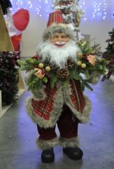 Father Frost of red-gray 60 cm. Toys under a
