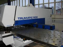 The forming Trumpf TC 500 R car with ChPU,