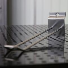 Double hooks for economy panels chrome plated