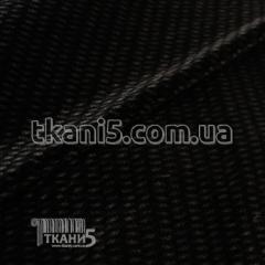 Fabric Zamsh obivochny (black) 7156