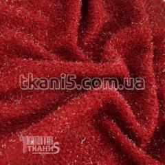 Fabric Jersey Lurex grass (dark red) 6788