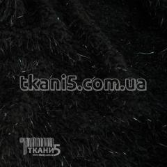 Ткань Трикотаж травка (черный)
