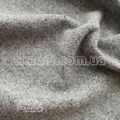 Ткань Шерсть вареная (серый меланж)