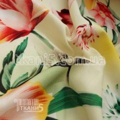 Fabric Shtapel print tyulpan (yellow) 5002