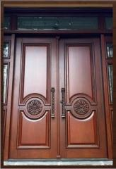 Doors entrance double Lviv, wooden doors, doors
