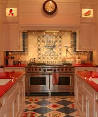 Плитка с росписью на кухню (прямая УФ-печать)