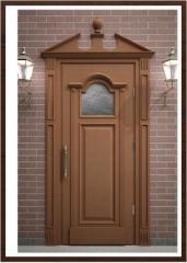 The door is entrance oak