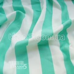 Ткань Штапель полоска мятно-белая (25мм)