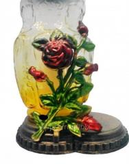 Lantern 48 hours. rose flower