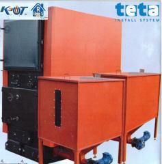 Котел пеллетный с 2 горелками BRS 600 DUO, две горелки (факельная) 620 кВт