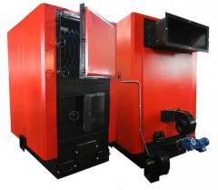 Котел пеллетный BRS 300 LM(a) 320 кВт, с механической подачей топлива, двойная футеровка, золоудаление