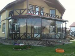 Transparent silicone for a covering of arbors,