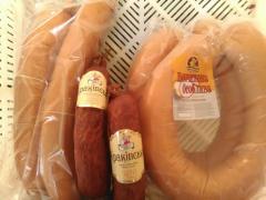Колбасы разных видов