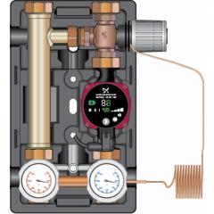 """Насоснаz групgа Meibes D-MTR 1"""" с ограничением температуры обратной линии (термопривод) c насосом Grundfos Alfa 2L 25-60 (Huch EnTEC)103.10.025.02GFP"""
