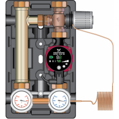Насосные группы Meibes D-MTR с ограничением температуры обратной линии (термостат 30-65°C)