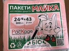 """Пакет майка ТМ """"CHERPACK"""" 22х36см/6 мкм красный п/е"""