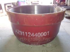 Drum brake forward AZ9112440001 HOWO dump truck