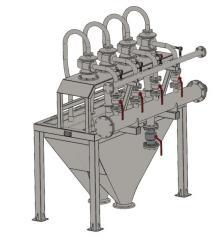 Гидроциклонная установка для очистки известкового