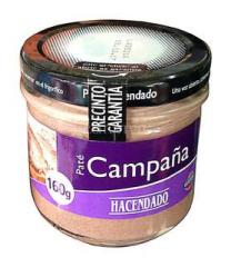 Pork liver paste classical Pate Hacendado...