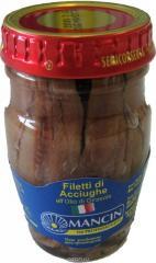 Анчоусы филе в масле 80г