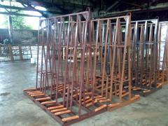 Pyramids for storage of glass and stekloizdeliya:
